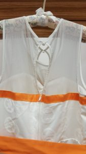 Back closure detail - neckline and zipper