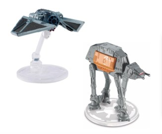 Hot Wheels TIE Striker and AT-ACT Starships Price: $4.99 each Available Fall 2016