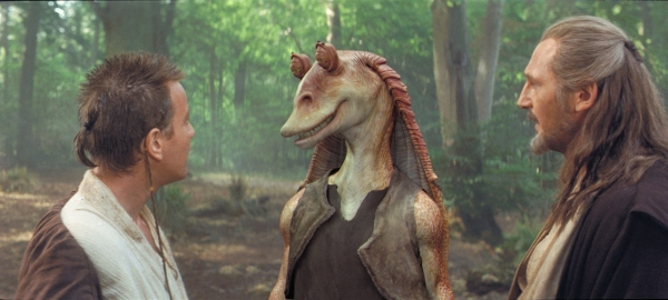 Chewbacca and the Life Debt - Jar Jar and Qui-Gon