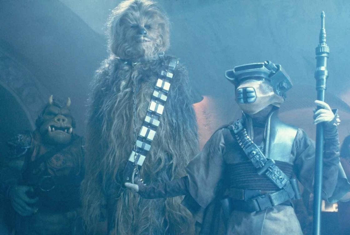 Boush presents Chewbacca for his bounty