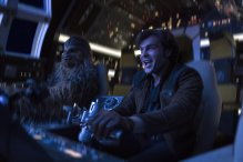 Alden Ehrenreich is Han Solo and Joonas Suotamo is Chewbacca in SOLO: A STAR WARS STORY.