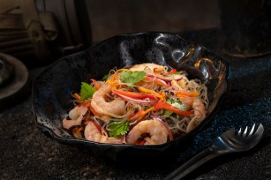Innovative and creative eats from around the galaxy will be available at Star Wars: Galaxy's Edge when it opens May 31, 2019, at Disneyland Park in Anaheim, Calif., and Aug. 29, 2019, at Disney's Hollywood Studios in Lake Buena Vista, Fla. The Yobshrimp Noodle Salad, found at Docking Bay 7 Food and Cargo inside Star Wars: Galaxy's Edge, is a marinated noodle salad with chilled shrimp. (David Roark/Disney Parks)