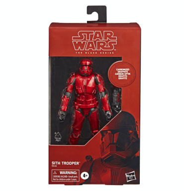 STAR WARS: THE BLACK SERIES CARBONIZED COLLECTION Sith Trooper - $24.99 (HASBRO/Ages 4 years & up/Approx. Retail Price: Starting at $24.99/Available: Fall 2019)