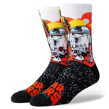 Droids Socks - $18 Available at stance retail and online.