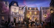 Epcot's United Kingdom pavilion will welcome the first attraction inspired by Mary Poppins. Guests will step in time down Cherry Tree Lane past Admiral Boom's house, then enter Number 17, home of the Banks family, where their adventure will begin. (Disney)