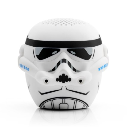 "BITTY BOOMERS - Stormtrooper Speaker - $19.99 Those loyal Imperial bad guys, Stormtroopers, now available in a 2"" tall Bitty Boomer! Bitty Boomers are wireless Bluetooth speakers that are ultra-portable! Don't be fooled though, what they lack in size they make up for with mind-blowing sound. Tiny size. Huge Sound. Sync 2 speakers together for extra boom! Shop now at Bitty Boomers: https://www.bittyboomers.com/shop/star-wars/stormtrooper/"