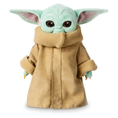 The Child Plush Embrace the adorable creature known as ''the Child'' with this soft, cuddly plush toy featuring faux suede coat and fuzzy trims. This irresistible infant is inspired by Star Wars: The Mandalorian now streaming on Disney+. May the hugs be with you! MSRP: $24.99 Available at: https://www.shopdisney.com/characters/star-wars/the-child/?att=DcomM_EXT_PR_TheChild_200220_efc280559&cmp=SYN-Dcom