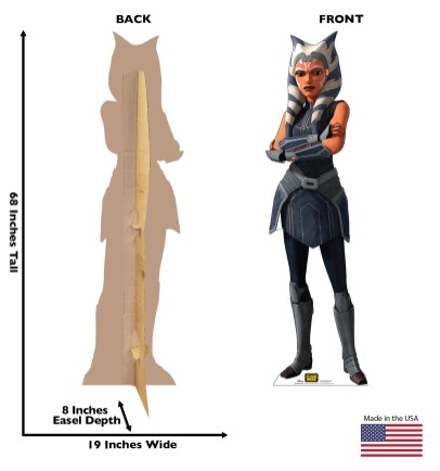 "Ahsoka Tano Standee From Advanced Graphics Stanee of Ahsoka Tano from The Clone Wars. 68"" by 19"" Available 2/22 at Amazon.com, Wayfair, Walmart.com and other online retailers"