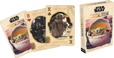 The Mandalorian + The Child 52 Playing Card Deck From Aquarius Playing Card deck of 52 separate images of The Mandalorian and The Child from 1st Series on Disney+ Available 6/1/2020 on Amazon.com