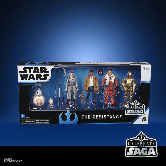 STAR WARS CELEBRATE THE SAGA 3.75-INCH THE RESISTANCE Figure 6-Pack - in pck