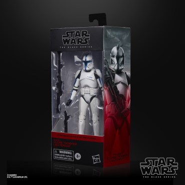 STAR WARS THE BLACK SERIES 6-INCH PHASE I CLONE TROOPER LIEUTENANT Figure - in pck (2)