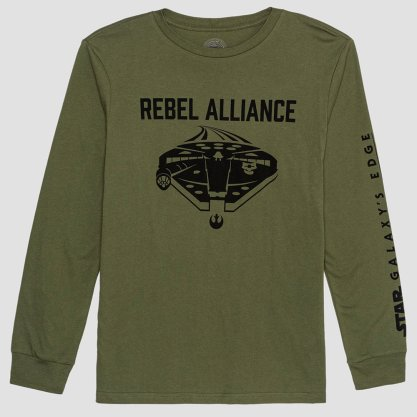 Hybrid Apparel -- Pick up saga-spanning character tees for the whole family and show your allegiance to the Rebel Alliance or the First Order.