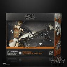 STAR WARS THE BLACK SERIES 6-INCH SPEEDER BIKE SCOUT TROOPER Figure & Vehicle Set - in pck (1)