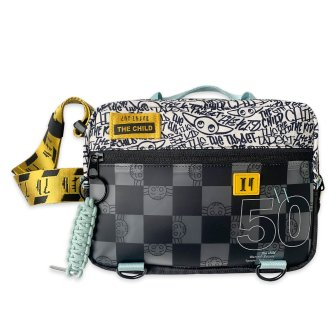The Child Belt Bag for Adults – Star Wars: The Mandalorian Description: The Child belt bag will rock the fannies of Grogu fans. This padded travel pack features Mandalorian lettering and elemental Grogu art, plus zip pockets and adjustable belt strap. MSRP: $39.99 Availability: shopDisney.com and Disney Stores