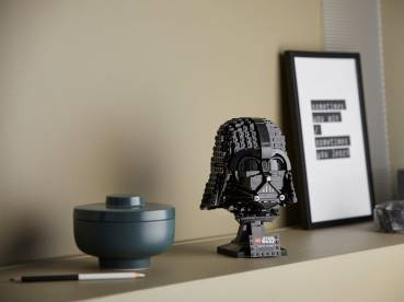 LEGO® Star Wars™ Darth Vader™ Helmet · 834 pieces. · Measures over 8 in. (20 cm) high, 5.5 in. (15 cm) wide and 5.5 in. (14cm) deep. · Price: $69.99 USD/ €69.99 EUR/ £59.99 GBP