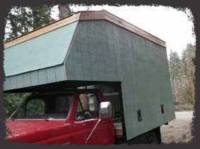 Upper cedar trim is on