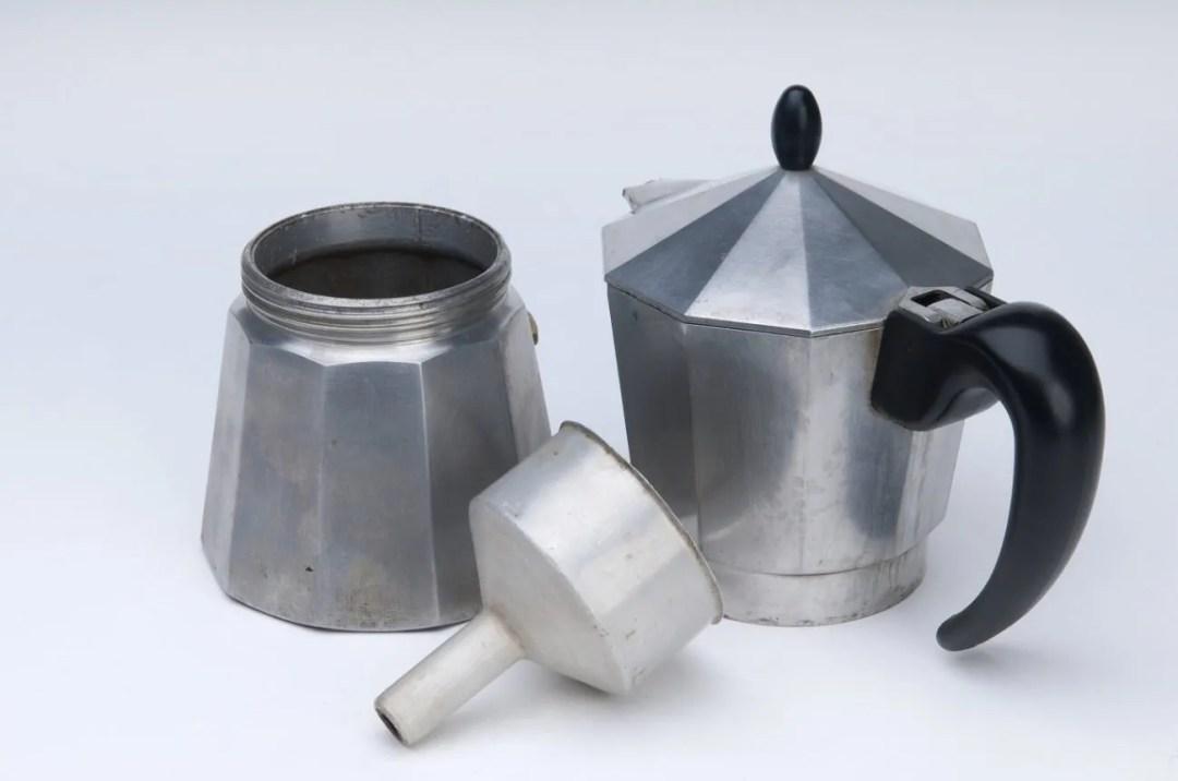 Bialetti moka pot in 3 parts