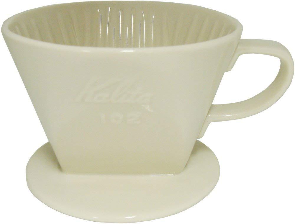 カリタ 陶器製コーヒードリッパー 102-ロト(2~4人用) ホワイト #02001