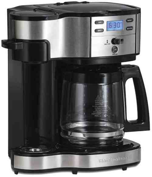 coffee machine with hot water function