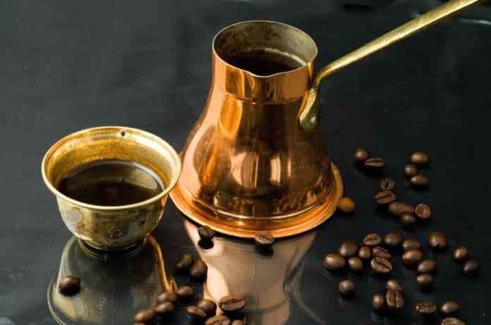 brew turkish coffee with a cezve