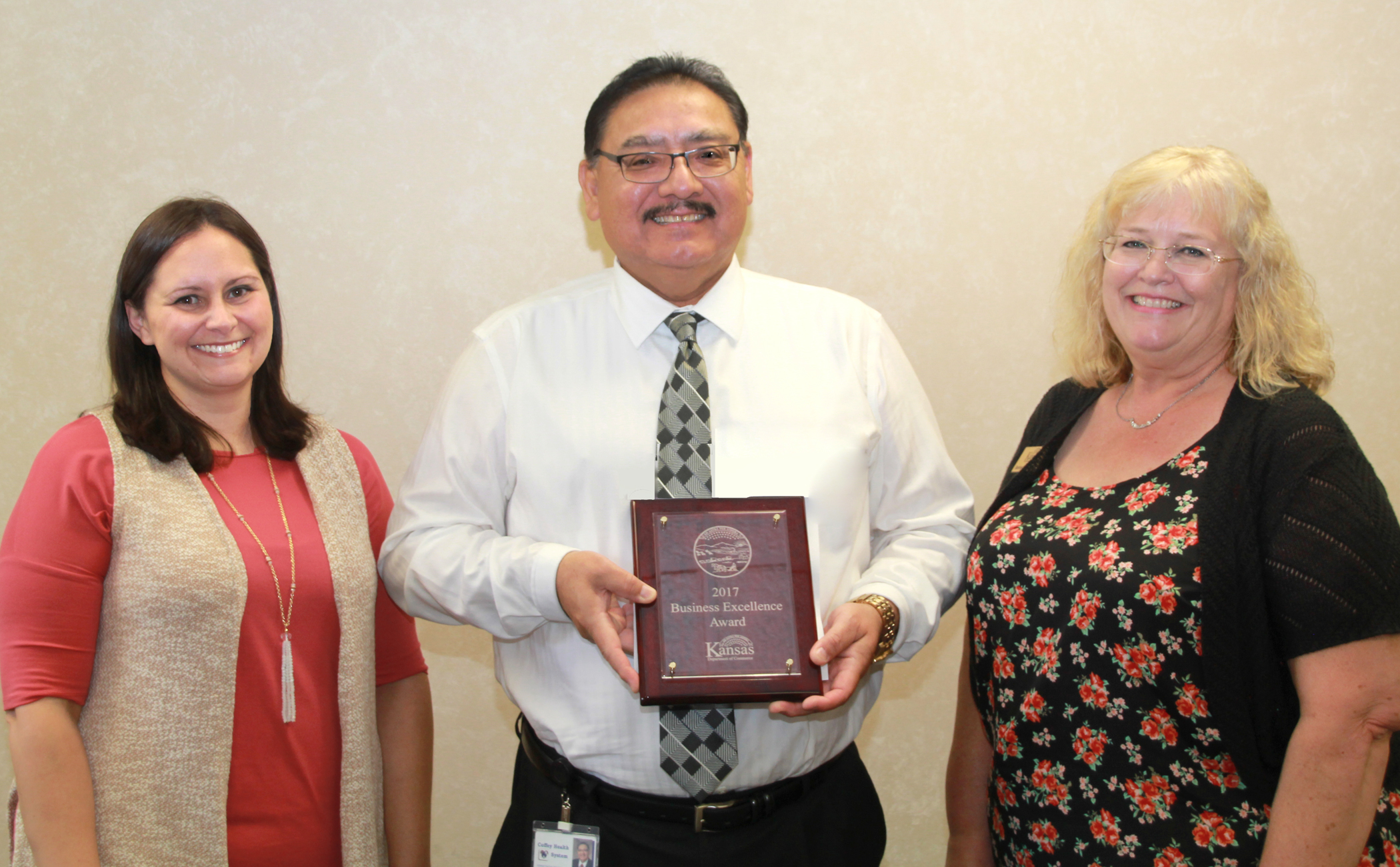 Kansas Department of Commerce recognizes CHS as regional award winner