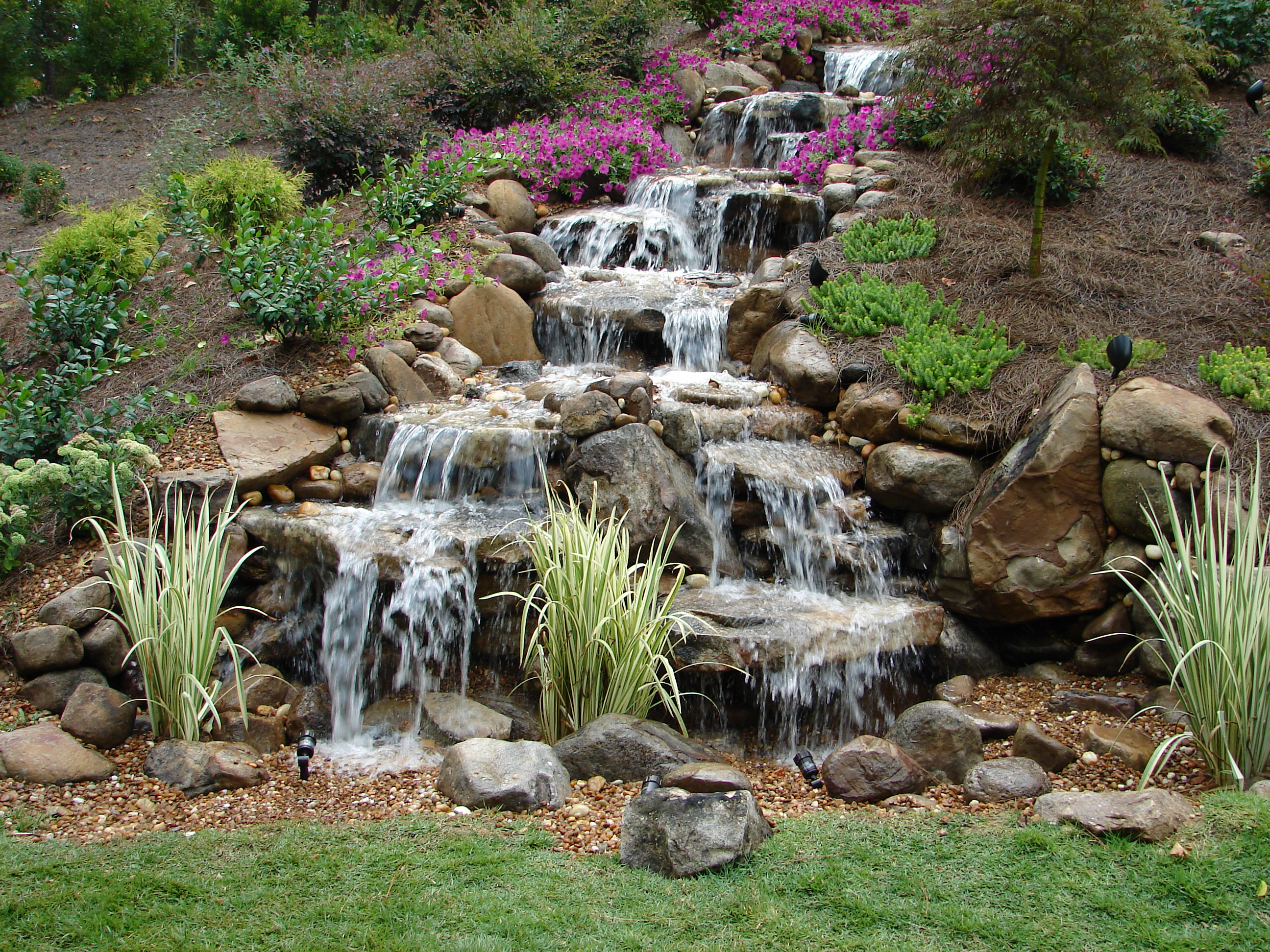 Pondless Waterfalls, A Unique Element To Any Backyard Get ... on Small Pond Waterfall Ideas id=28919