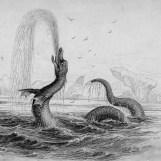 Gargouille, turquoise tint, public domainBW