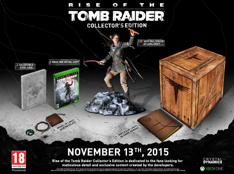 L'édition collector de Rise Of The Tomb Raider