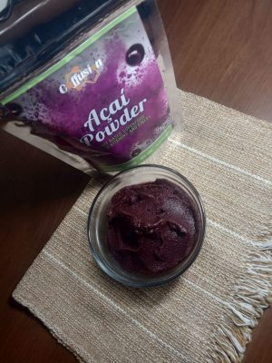 açaí bowl made with our powder