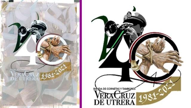 La Banda de Cornetas y Tambores de la Vera-Cruz presenta el logotipo de su 40 aniversario