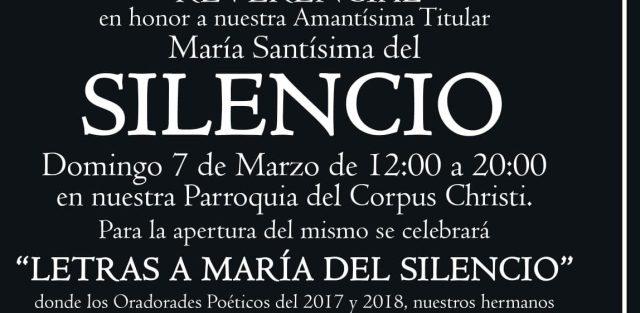 «Letras a María del Silencio» organizado por la Hermandad de La Misión de Jerez de la Frontera