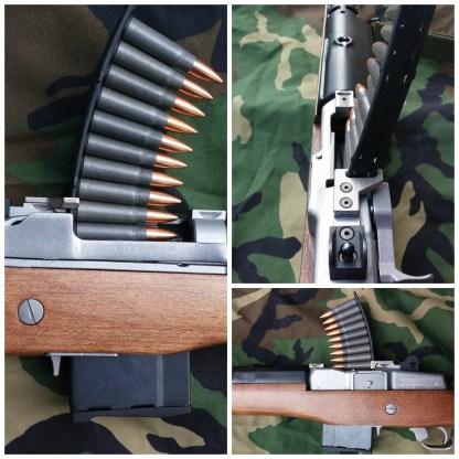 Mini-30 top mounted stripper clip guide collage