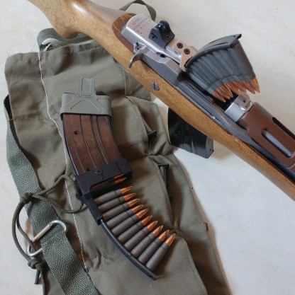Mini-Thirty loaded with 7.62x39 SKS clips