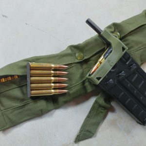 OD green CETME G3 magazine clip loader and Australian bandolier