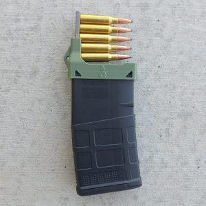 OD green mag loader for SR25 magazines