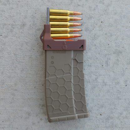 Brown AR10 mag loader
