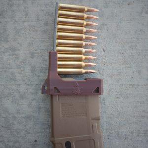 Brown AR-15 magazine loading tool