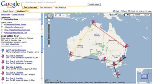 Google MyMap for Tour