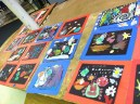 1st Grade Collages Drying