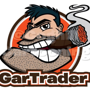 Gar Trader cartoon logo cigar tough guy