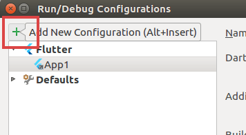 Select Add new configuration