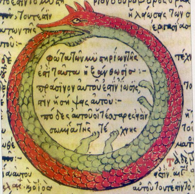 Ouroboros, Tetractys, Pythagoras, Monad