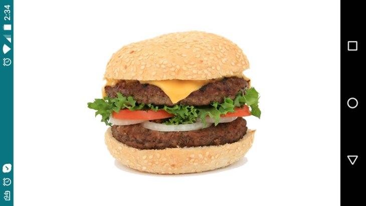 бургер, игра по изменению пищевых предпочтений