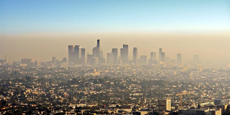 грязный воздух города