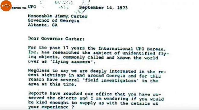 In 1969, the future US President Jimmy Carter, while serving for Georgia as governor, saw an UFO