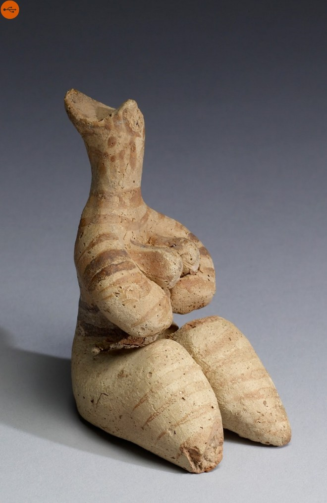 Tel Halaf terracotta fertility figurine, 5000-4000