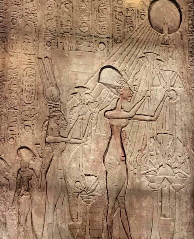 The stele of ancient Egypt of alien sacrifice