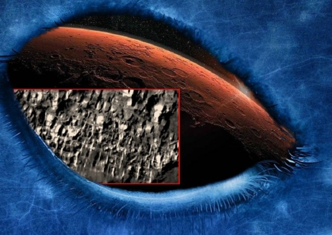 Ancient Martian city, Mars, NASA calls it Atlantis Chassis.