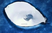 Incredible images, show an object similar to a flying saucer in Antarctica