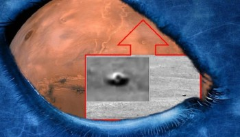 Crater Gale, Mars, a UFO is photographed, shocking!